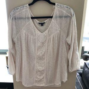 AE white summer shirt
